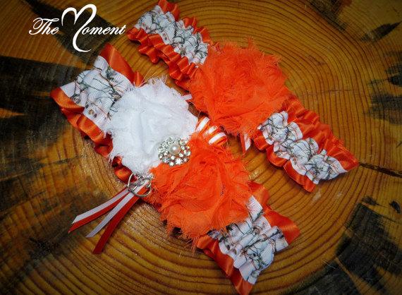 839bd65ce White Camo Garter With Orange