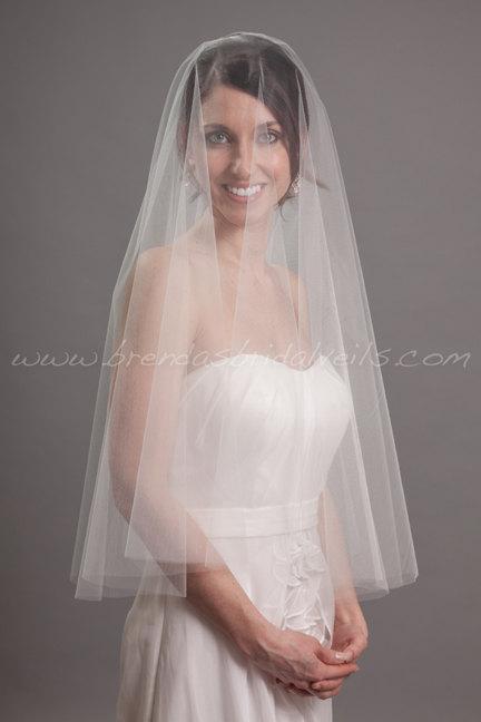 Wedding - Drop Veil, Bridal Veil Double Layer, Wedding Veil - Devyn Veil