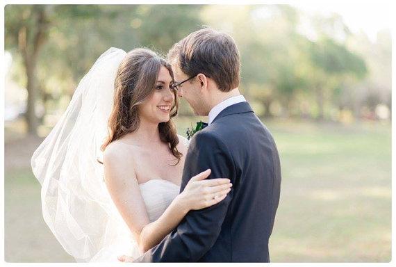 "Wedding - Fingertip veil with blusher raw edge veil wedding veil 2 tier veil blusher veil 2 layer blusher veil simple veil ""Erin"""