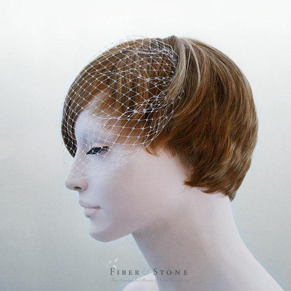 Mariage - Add a Veil, Bandeau Birdcage Veil, Wedding Veil, Bridal Veil, Blusher Veil, Birdcage Veil, Wedding Hair Accessories, Bridal Hair Accessories