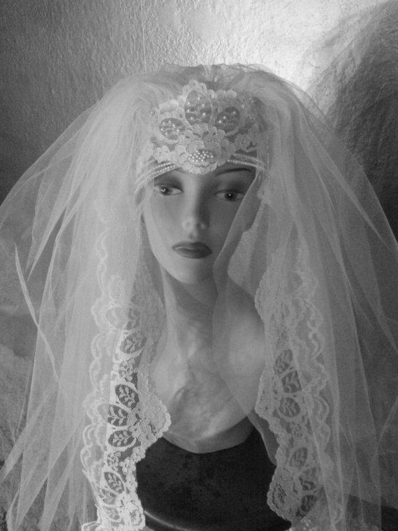 Mariage - 1960's Vintage Wedding Veil