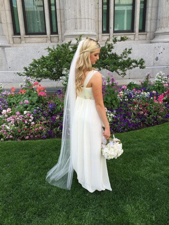 Floor Length (6ft) Wedding Veil