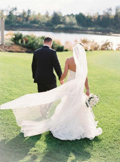 Hochzeit - Cathedral length Wedding Bridal Veil 108 inches white, ivory, Wedding veil Long bridal Veil cathedral length veil bridal veil cut edge veil