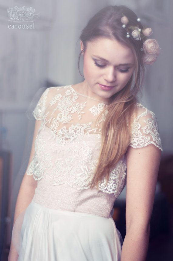Lace Wedding Top Separate Fleur