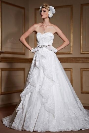 Wedding - Sexy Backless Sweetheart Lace Up Lace Bridal Gown- AU$ 1,521.94 - DressesMallAU.com
