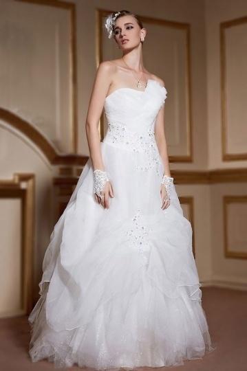 Свадьба - Sexy Backless Lace Up Beading Organza Ivory Wedding Dress- AU$ 1,054.49 - DressesMallAU.com
