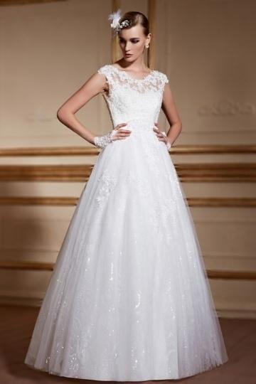 Wedding - Elegant Scoop A Line Sleeveless Lace Wedding Gown- AU$ 924.03 - DressesMallAU.com