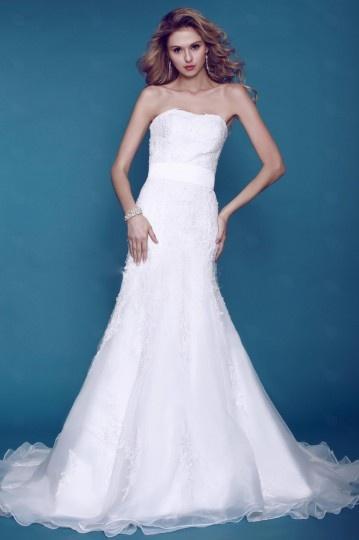 Wedding - Sexy Strapless Trumpet Backless Sleeveless Organza Wedding Dress- AU$ 315.26 - DressesMallAU.com