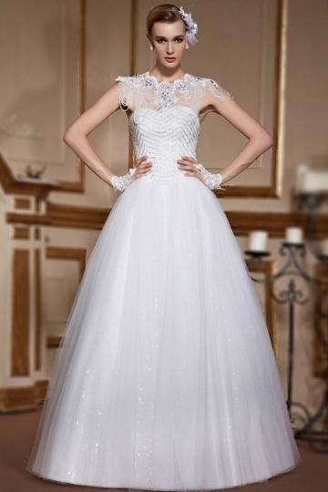 Wedding - Sexy Sweetheart Tulle Lace Up Sequins A Line Wedding Dress- AU$ 956.65 - DressesMallAU.com