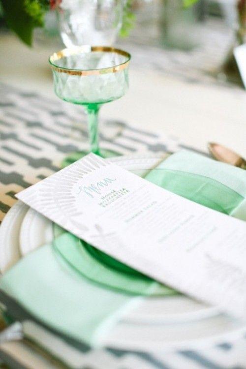 زفاف - Color Trend: Mint Wedding Ideas