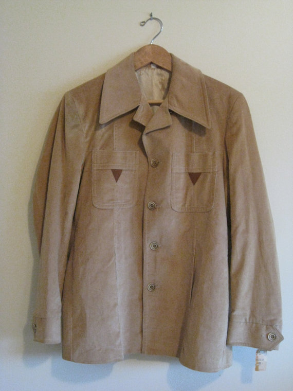 Свадьба - Vintage Mens New Never Worn Lined Tan Corduroy Jacket / Sport Coat Size 40