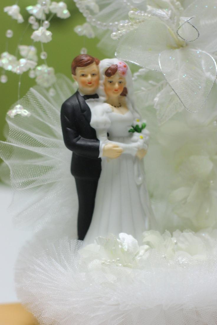 زفاف - Vintage Wedding Cake Topper 1960s