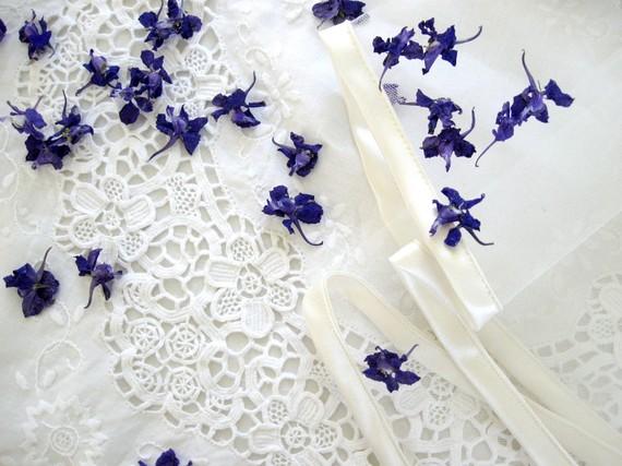 Blue Confetti Dry Flowers Biodegradable Confetti Purple Flowers