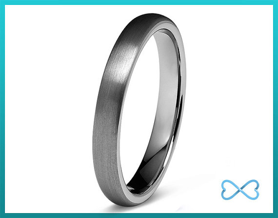 Свадьба - Tungsten Wedding Bands,Mens Ring,Mens Wedding Bands,Tungsten Ring,Rings,Dome Round,4mm,FREE Engraving,Mans,Anniversary,His Hers,Set,Size