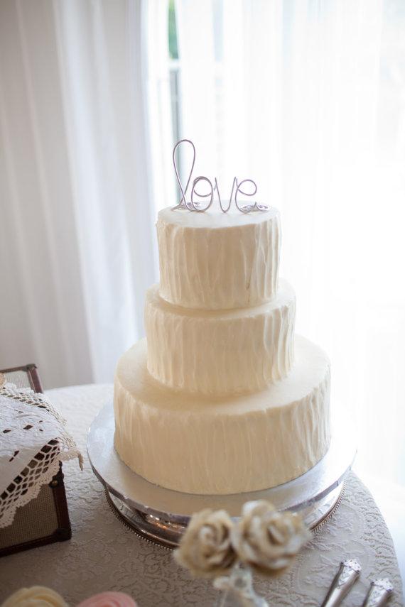 Decor - Simple Classy Love Wedding Cake Topper #2374984 - Weddbook
