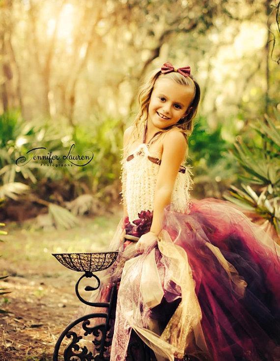 زفاف - Fall Girls Dress Flower Girl Dress
