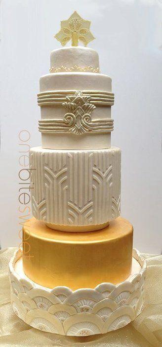 Wedding - Art Deco Wedding Cake