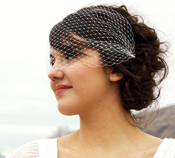 Hochzeit - Ivory Birdcage Veil Bandeau Style Birdcage Veil White Birdcage Veil Black Birdcage Veil