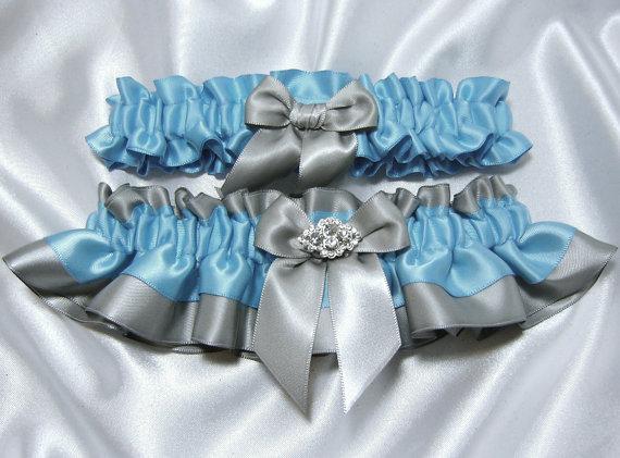 Malibu Turquoise Wedding Garter Set