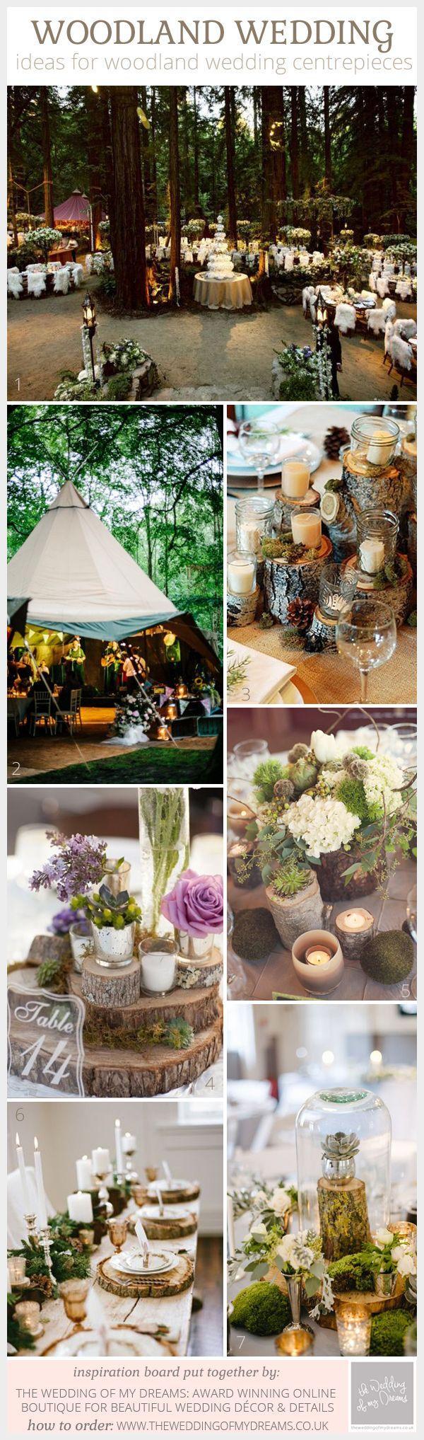 Mariage - Discover These Amazing Woodland Wedding Centrepiece Ideas
