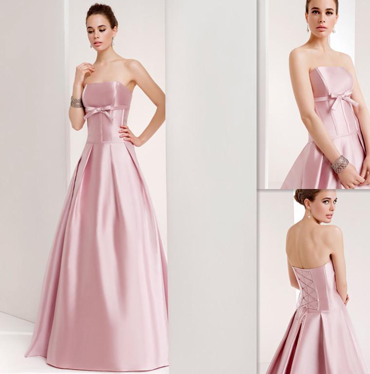 Stunning simple wedding dresses a line garden spring cheap for Simple pink wedding dress