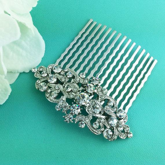 Hochzeit - Hair Comb Wedding, crystal pearl rhinestone hair comb,bridal hair comb rhinestone, hair comb wedding headpieces