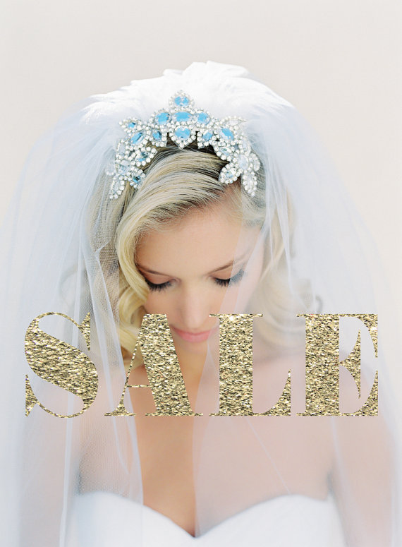 Hochzeit - Wedding Veil, Crystal Comb, Crystal Veil, Silver Beaded Veil, Cathedral Veil, Triple Layer Veil, Off White, Ivory, Joanna Krupa Veil #1524