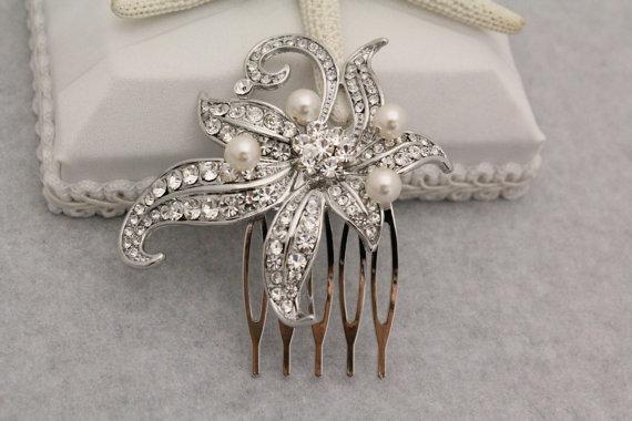 Mariage - Wedding Hair Accessories Bridal Hair Jewelry Wedding Hair Combs Bridal Accessories Wedding Headpieces Bridal Hair Combs 1920's Wedding Combs