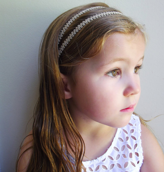 Mariage - Boho Double Strand Gold Headband * Metallic Hippie Headpiece for Babies, Toddlers, Girls, and Women