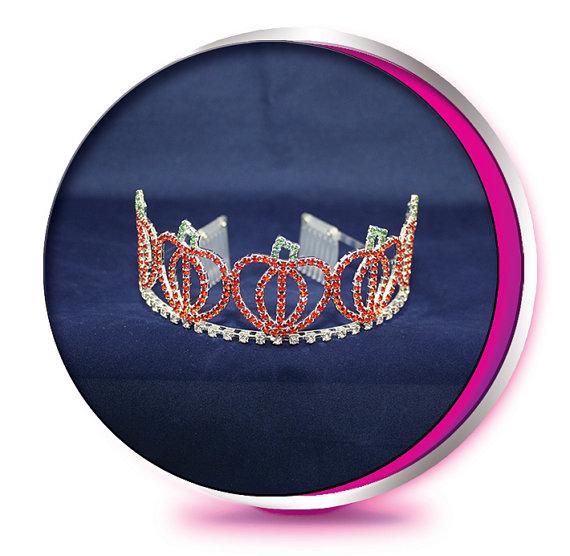 Свадьба - The Pumpkin Patch - Rhinestone Tiara - Pageant, Wedding, Prom, Birthday, Homecoming, or Bridesmaid Princess Crown