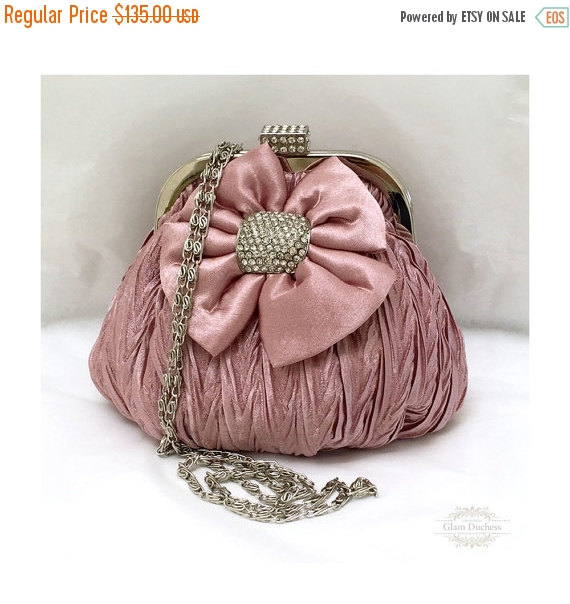 afbb5b19b36d3 Bridal Clutch, Wedding Clutch, Vintage Inspired Evening Bag, Dusty ...