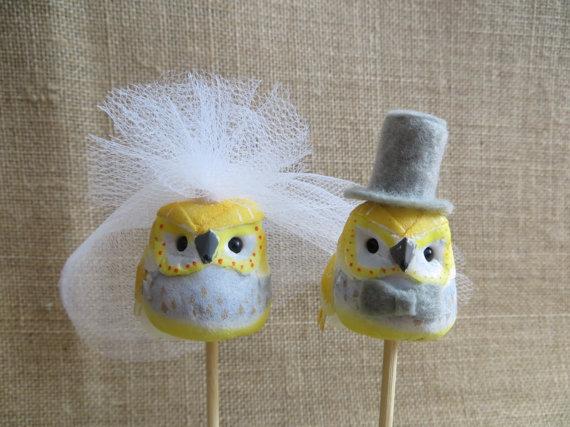 Свадьба - Owl Wedding Cake Topper,  Wedding Cake Topper, Lovebird Cake Topper, Rustic Wedding Cake Topper