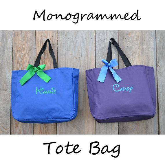 زفاف - Personalized Bridesmaid Gift Tote Bag