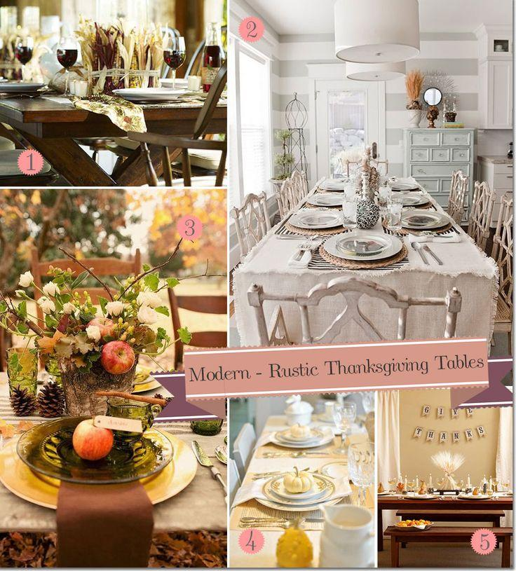 Mariage - Modern, Rustic Thanksgiving Table Settings: 10 Great Ideas!