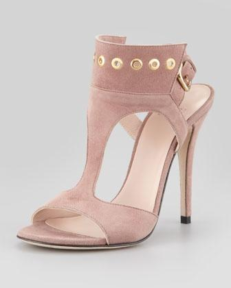 Mariage - Frenchcuff Suede Pump Sandal