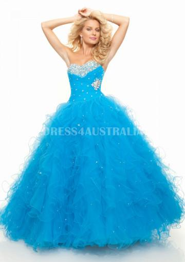 Mariage - Buy Australia Ball Gown Blue Sweetheart Organza Evening Dress/ Prom Dresses /Quinceanera Dresses 2013 PAZ by MLGowns 93037 at AU$186.26 - Dress4Australia.com.au