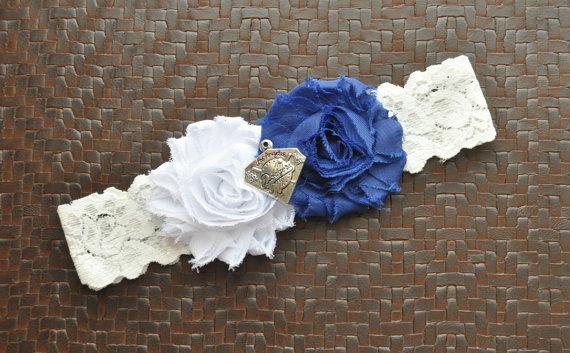 Свадьба - Dodgers Wedding Garter, Dodgers Bridal Garter, White Lace Wedding Garter, Baseball Wedding Garter, Dodgers Garter, LA Dodgers Garter