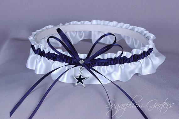 Hochzeit - Dallas Cowboys Wedding Garter