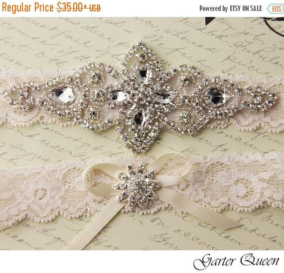 Wedding - SALE 10% OFF BEST Seller Ivory Lace Wedding Garter, Ivory Bridal Garter, Wedding Garter Set, Lace Bridal Garter Set, Ivory Bridal Garter Bel