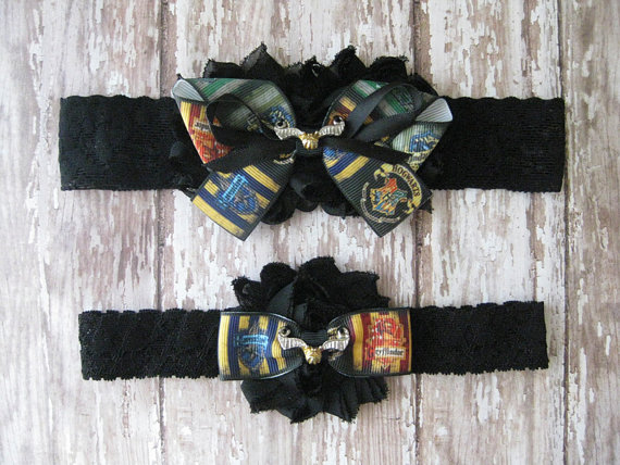 Свадьба - Harry Potter Golden Snitch Garter Set