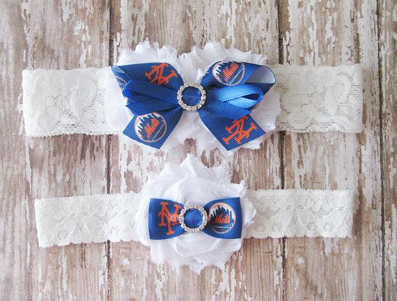 Свадьба - NY Mets Garter Set