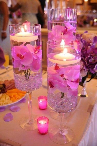 Mariage - Wedding Table Centerpieces – Bright Pink DIY
