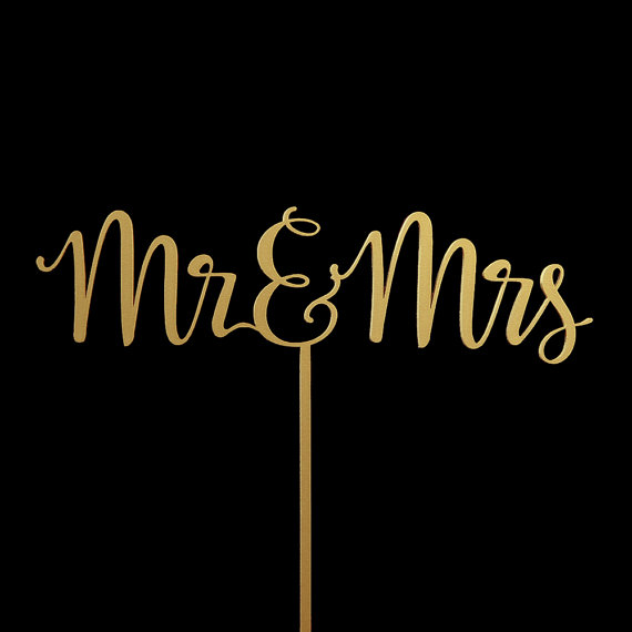 Mariage - Mr and Mrs Wedding Cake Topper -  Keepsake Wedding Cake Toppers
