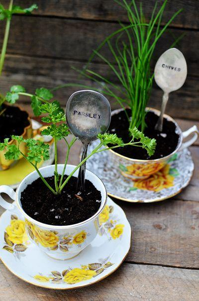 Mariage - DIY Stamped Spoon Plant Markers