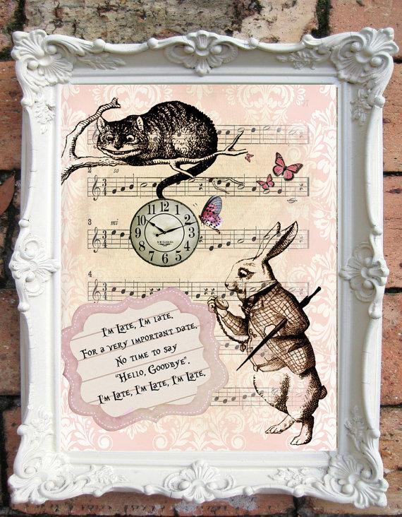 Alice In Wonderland Wedding Alice In Wonderland Decor Alice In Wonderland Quote Unbirthday Party Mad Hatter Bridal Shower Party C A28 2376108 Weddbook