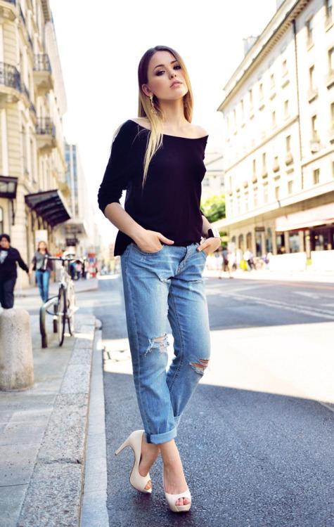 Свадьба - boyfriend jeans fashion blog - Global Streetsnap
