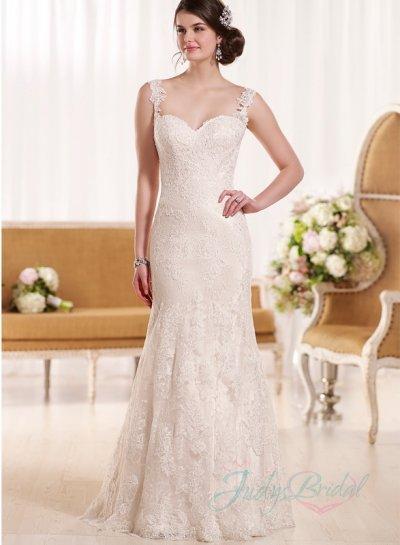 Hochzeit - sexy backless lace strappy mermaid wedding dress