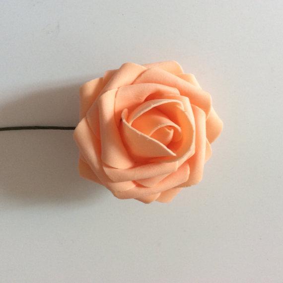 6968c3c5ca8 100 Pcs Orange Wedding Flowers Artificial Foam Roses Diameter 3