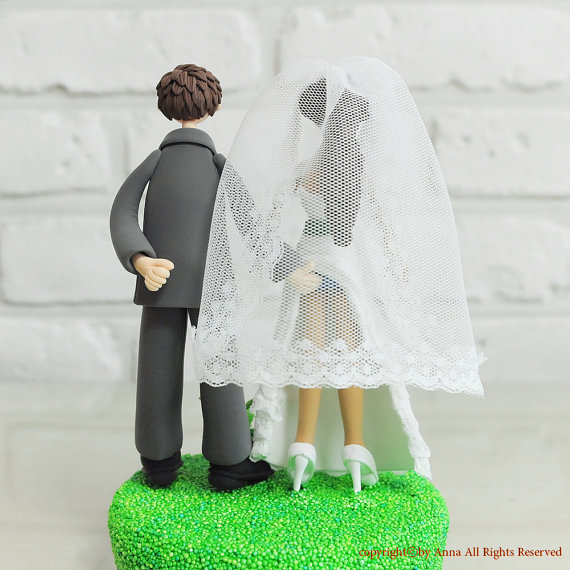 Hochzeit - Wedding Cake Topper - Custom Cake Topper - Sensual Theme Topper - Funny Cake Topper -  Custom Wedding Cake Topper