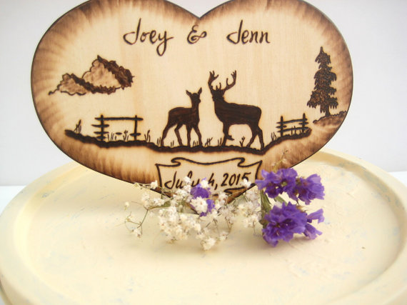 Wedding Gifts For Country Couple : ... Country, Wood Heart, Silhouette, Rustic Tree, Camo Wedding Gifts for